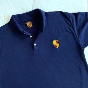 Porsche Crest Logo Pique Polo Shirt